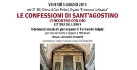 Le confessioni di Sant'Agostino 5 giugno 2015?>
